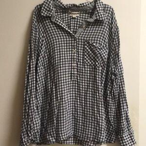 Plaid pop over shirt!